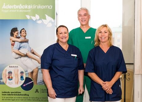 Personalen på Åderbråcksklinikerna