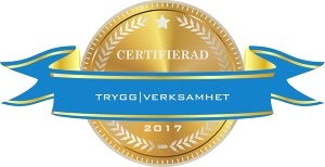 Vi är certifierade av Trygg Verksamhet