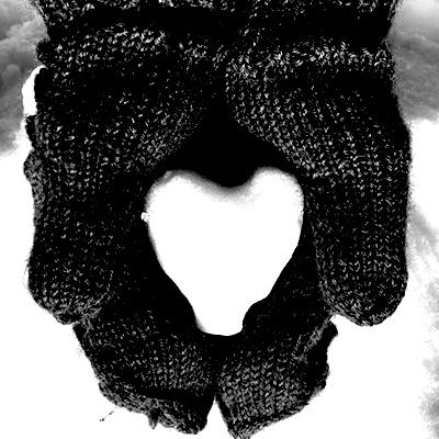 Hjärta-av-snö