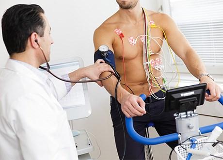Arbetsprov hos hjärtspecialist