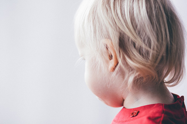 huvudprofil av barn