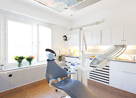 Behandlingsrum hos tandläkare Helena Gustavsson